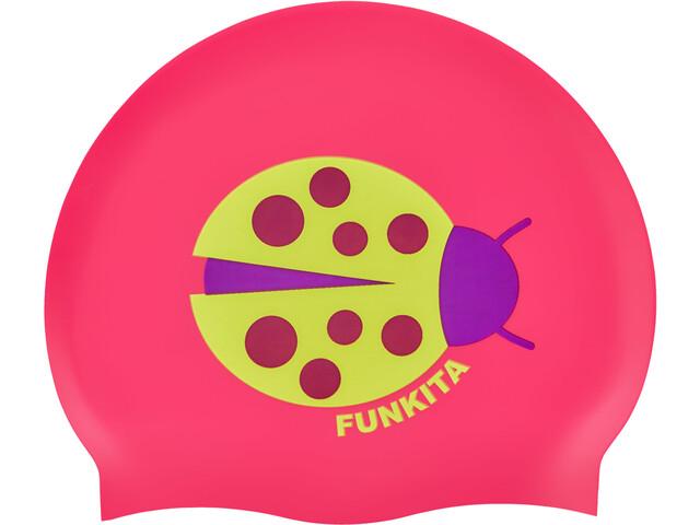 Funkita Silicone Swimming Cap 10 Pieces Women, lady birdie